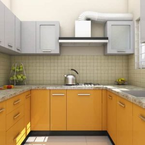 u shape kitchen interior design