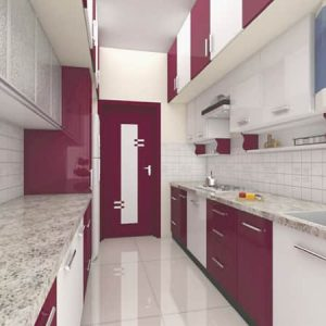 Red cherry kitchen interior