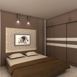 Brown Bed room Interior Design