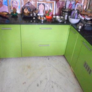 Pooja Room with Light Green Color Designs
