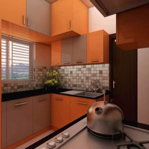 Orange Kitchen Interior